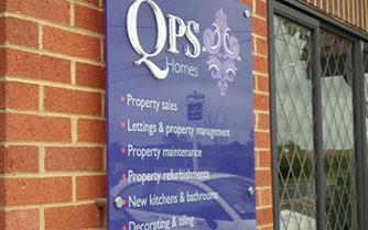 QPS wall mounted sign